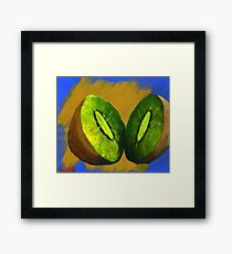 Kiwi Fruit Framed Print