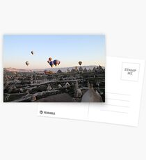 Hot air balloons over Cappadocia Postcards