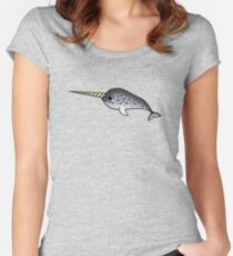 Narwhal chibi Women's Fitted Scoop T-Shirt