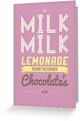 Milk, milk, lemonade... (pink) by Stephen Wildish
