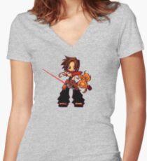 Shaman StarKing Women's Fitted V-Neck T-Shirt