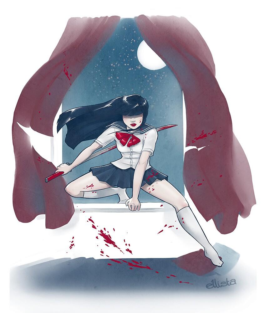 Samurai Schoolgirl by kinky-chichi