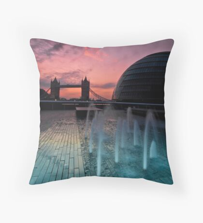 Southbank Sunrise: Tower Bridge & City Hall Throw Pillow
