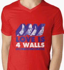 f(x) LOVE IS 4 WALLS Men's V-Neck T-Shirt