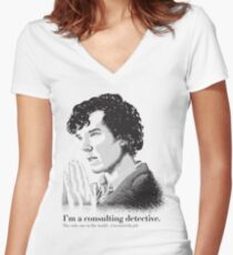A Study in Type Women's Fitted V-Neck T-Shirt