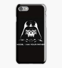 "Funny ""Noob, I Am Your Father"" Darth Vader Design iPhone Case/Skin"