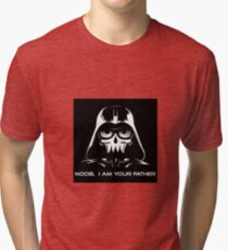 "Funny ""Noob, I Am Your Father"" Darth Vader Design Tri-blend T-Shirt"