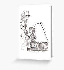 Keyboard player Greeting Card