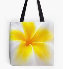 Yellow Frangipani Up Close  Tote Bag