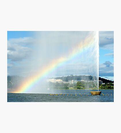 Captain Cook Fountain Rainbow Photographic Print