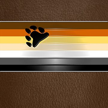 Bear Flag Wrapped Over Brown Leather by x-pressions