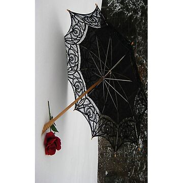 Umbrella, Rose, and Snow - iCase by hallucingenic