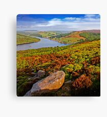Ladybower from Above Canvas Print
