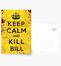 Keep Calm and Kill Bill Postcards