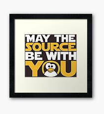 May The Source Be With You - Tux Edition Framed Print
