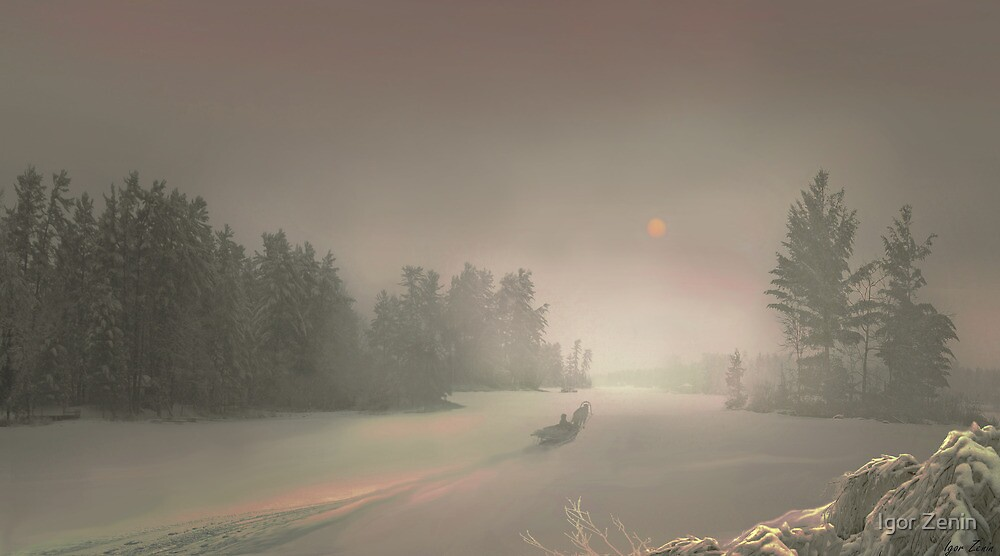 Winter Sunset by Igor Zenin