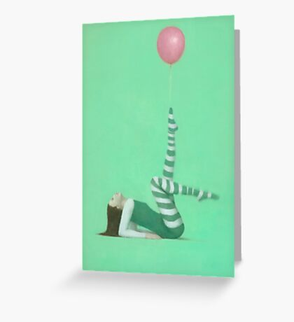 The Pink Balloon I Greeting Card