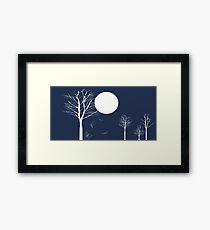 Full Moon Night Framed Print