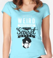 I like Being Weird  Women's Fitted Scoop T-Shirt