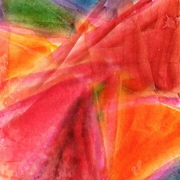 Red in Motion Watercolor Painting by William63