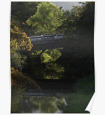 Mirrored Bridge In The Jungle - Puente Reflejado En La Selva Poster