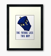 The future lies this way - Dr Who Framed Print