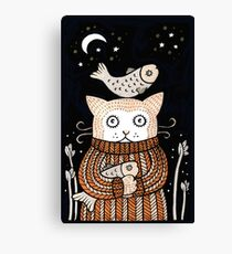 Quirky Cat Canvas Print
