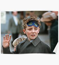 Lad at changing of the guard Buckingham Palace  19570830 0007 Poster