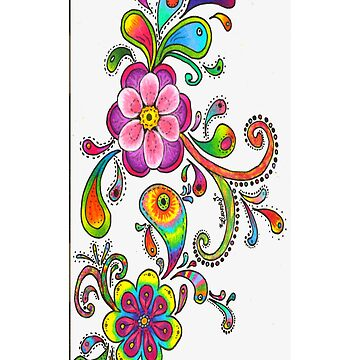 Floral Colored Pencil Design - iCase by hallucingenic
