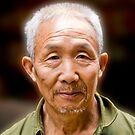 Scruffy Whiskered China Man by phil decocco