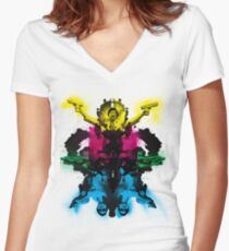 Senor Chang paintball montage Women's Fitted V-Neck T-Shirt