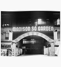 Vintage Madison Square Garden Poster