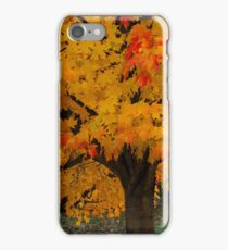 Colorful Maple tree iPhone Case/Skin