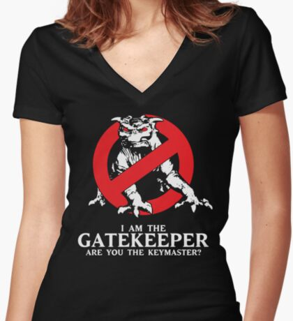 I Am The Gatekeeper Women's Fitted V-Neck T-Shirt