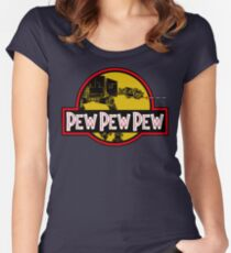 Pew Pew Pew Women's Fitted Scoop T-Shirt