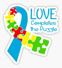 Love Completes The Puzzle Sticker