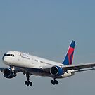 Delta Airlines Boeing 757 Approach KLAS by Henry Plumley