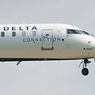 Nose Shot N161PQ Delta Connection CRJ-900ER Approach by Henry Plumley