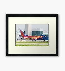 Holding N383SW Boeing 737-7H4 Southwest Airlines Arizona One Framed Print