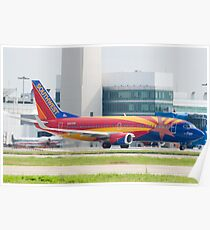 Holding N383SW Boeing 737-7H4 Southwest Airlines Arizona One Poster