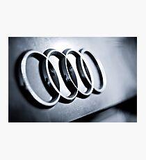 Audi Emblem - Rear Photographic Print