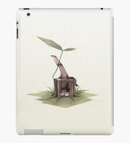 Ferrets in the rain iPad Case/Skin