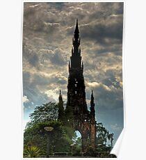 Gothic Rocket Ship Poster