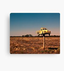 It Pays to Advertise - Pooncarie NSW Canvas Print
