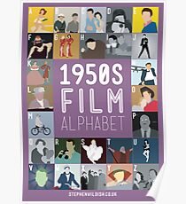 1950s Film Alphabet Poster