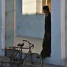 Man and Bicycle by Kasia Nowak