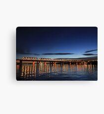 Iron Cove Bridge at dusk Canvas Print