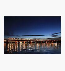 Iron Cove Bridge at dusk Photographic Print