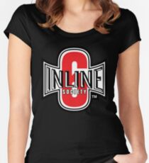 Inline 6 Society - Design #2 Women's Fitted Scoop T-Shirt