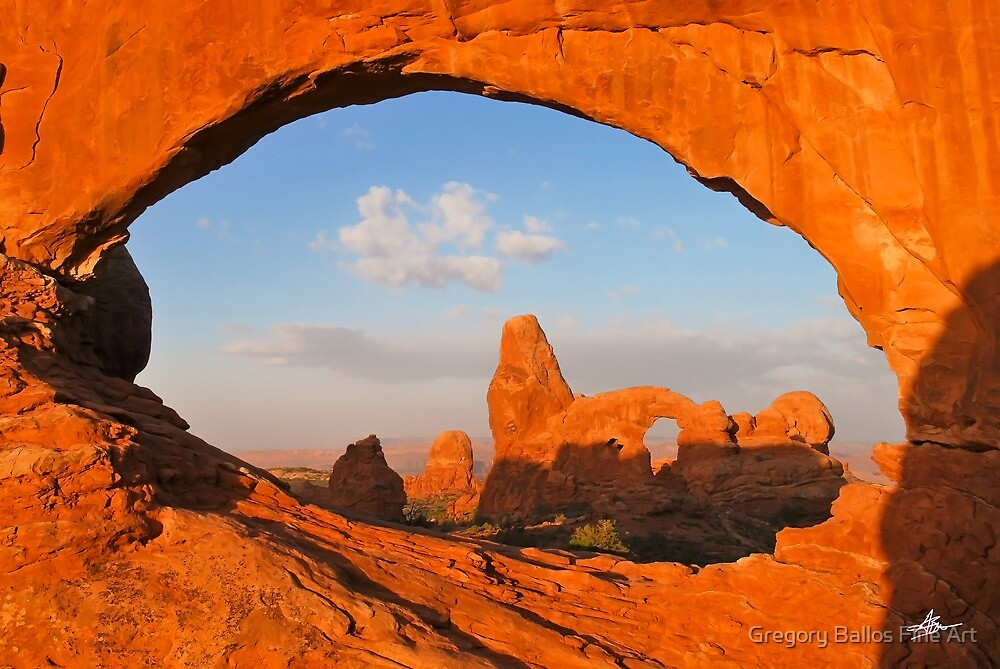 Turret Arch through the North Window, Arches National Park by Gregory Ballos